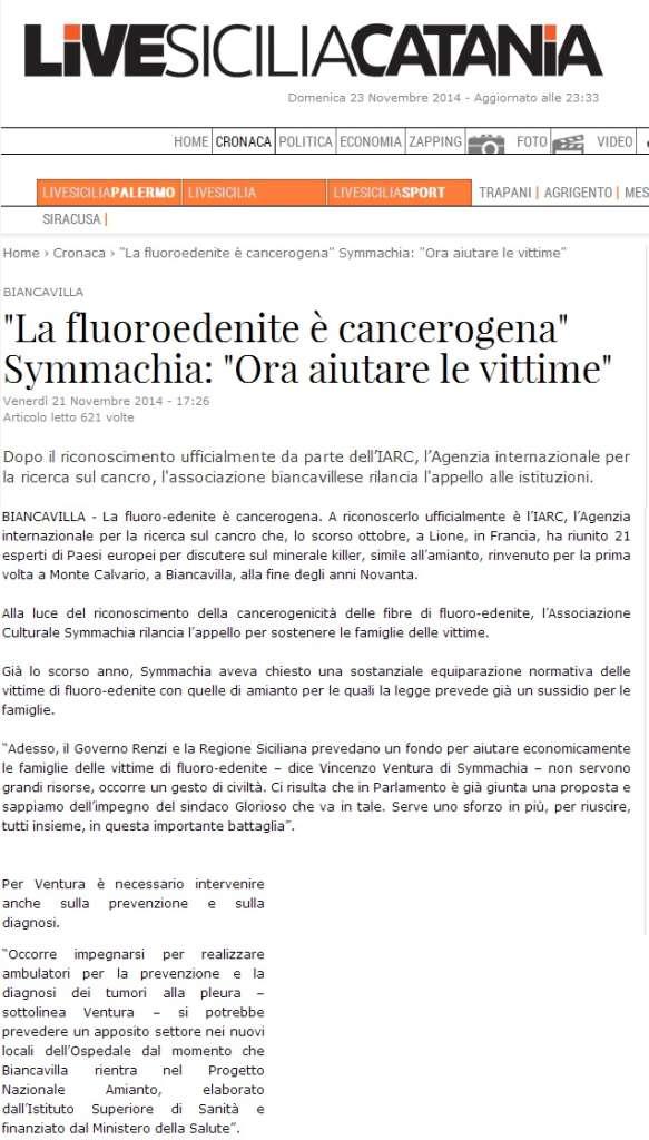 live sicilia - fluoroedenite
