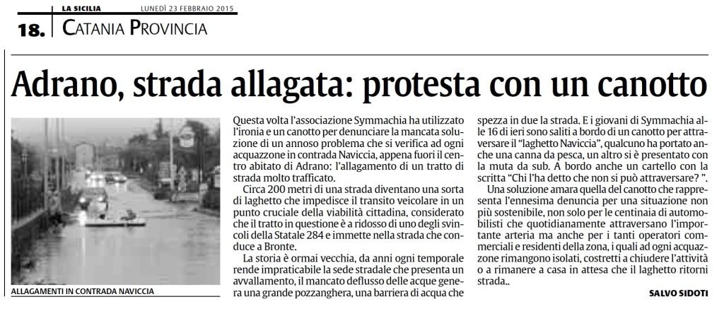 rassegna canotto - la sicilia 23 febbraio 2015